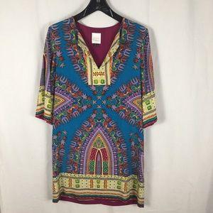 Nicole Miller Studio Silk Multi Dress/Tunic